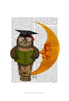 Owl On The Moon Framed Print