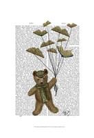 Bear with Book Butterflies Fine Art Print