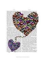 Two Butterfly Hearts Framed Print