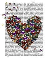 Butterfly Heart Framed Print