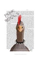 Punk Rock Goose Framed Print