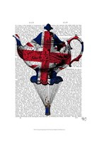 Union Jack Flying Teapot Fine Art Print
