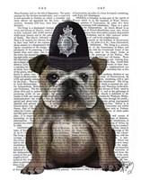 Bulldog Policeman Fine Art Print