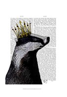 Badger King I Framed Print