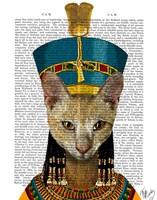 Egyptian Queen Cat Framed Print