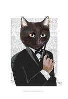 James Bond Cat Framed Print