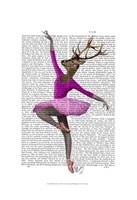 Ballet Deer in Pink I Framed Print