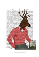Deer At The Bar Fine Art Print