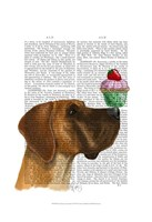Great Dane and Cupcake Framed Print