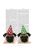 Party Pugs Pair Fine Art Print