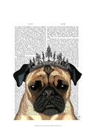Pug With Tiara Framed Print
