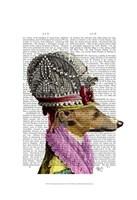 Greyhound in 16th Century Hat Framed Print