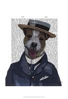 Jack Russell in Boater Fine Art Print