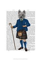 West Highland Terrier in Kilt Framed Print