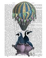 Flying Penguins Framed Print