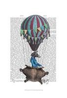 Flying Zebra Framed Print