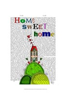 Home Sweet Home Illustration Fine Art Print