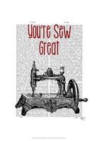 You're Sew Great Illustration Framed Print