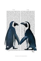 Penguins in Love Fine Art Print