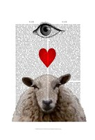 I Heart Ewe Framed Print