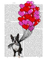 Boston Terrier And Balloons Fine Art Print