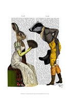 Look Of Love Regency Badger & Hare Couple Framed Print