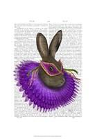 Mardi Gras Hare Framed Print