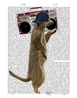Meerkat with Boom Box Ghetto Blaster Fine Art Print