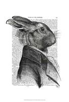 Rabbit Portrait Profile Framed Print