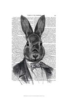 Rabbit In Suit Portrait Fine Art Print