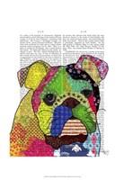 Patchwork Bulldog Framed Print