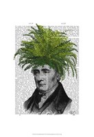 Fern Head Plant Head Framed Print