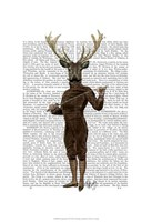Fencing Deer Full Fine Art Print
