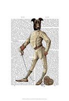 Greyhound Fencer in Cream Full Fine Art Print