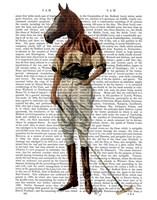 Polo Horse Full Framed Print