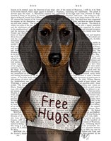 Dachshund Free Hugs Fine Art Print