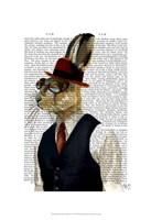 Horatio Hare In Waistcoat Framed Print