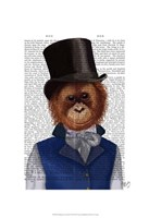 Orangutan in Top Hat Fine Art Print