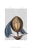 AirShip with Blue Sails Fine Art Print