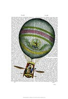 Light Blue Hot Air Balloon Fine Art Print