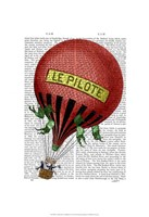 Le Pilote Hot Air Balloon Fine Art Print