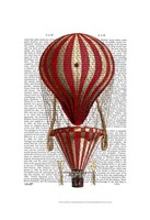 Tiered Hot Air Balloon Print Red Framed Print