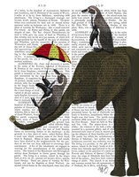 Elephant and Penguin Fine Art Print