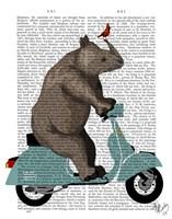 Rhino on Moped Fine Art Print