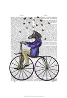 Zebra On Bicycle Framed Print