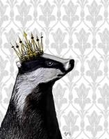 Badger King II Framed Print