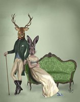 Mr Deer and Mrs Rabbit Fine Art Print