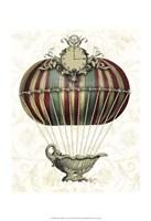 Baroque Balloon with Clock Fine Art Print