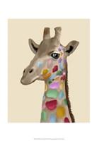 MultiColoured Giraffe Fine Art Print