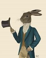 Hare In Turquoise Coat Framed Print
